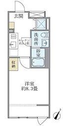 HTピア赤坂 4階1Kの間取り