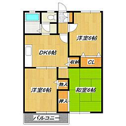 セジュール瑞江[1階]の間取り