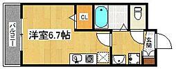 KATURAGI  Ville−B B[301号室]の間取り