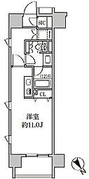 クリオ五反田[8階]の間取り