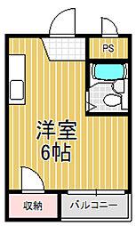 エホールIII[3階]の間取り