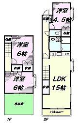 [テラスハウス] 東京都八王子市館町 の賃貸【/】の間取り