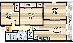 アンソレイエ・ユニティ[2階]の間取り