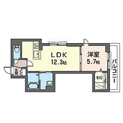 (仮)海老名市国分南2丁目シャーメゾン 3階1LDKの間取り