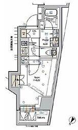 東京メトロ南北線 白金高輪駅 徒歩4分の賃貸マンション 6階1Kの間取り