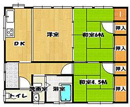 [一戸建] 福岡県筑後市大字長浜 の賃貸【/】の間取り
