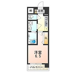 おおさか東線 JR淡路駅 徒歩2分の賃貸マンション 4階1Kの間取り