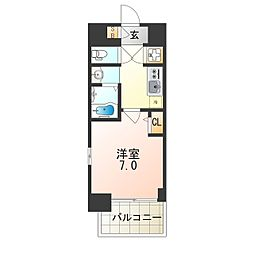 JR大阪環状線 弁天町駅 徒歩12分の賃貸マンション 6階1Kの間取り
