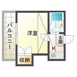 プレジール岡崎[2階]の間取り