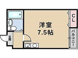 リバーライズ八戸ノ里[3階]の間取り