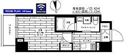 都営大江戸線 新御徒町駅 徒歩6分の賃貸マンション 8階1Kの間取り