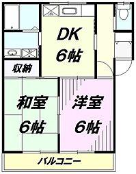 埼玉県所沢市大字山口の賃貸アパートの間取り