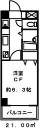 ドミール板橋[508号室]の間取り