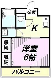 埼玉県所沢市南住吉の賃貸マンションの間取り