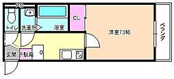大阪府枚方市三矢町の賃貸アパートの間取り
