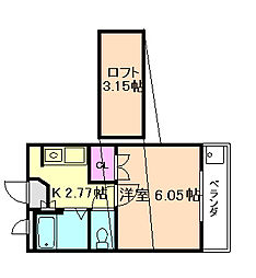 大阪府豊中市螢池北町2丁目の賃貸アパートの間取り