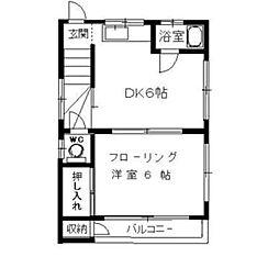 愛泉荘[3階]の間取り