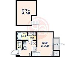 阪堺電気軌道阪堺線 我孫子道駅 徒歩5分の賃貸アパート 1階1SKの間取り