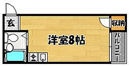 阪急京都本線 相川駅 徒歩8分の賃貸マンション 1階ワンルームの間取り