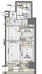 メインステージ神田須田町 5階1LDKの間取り