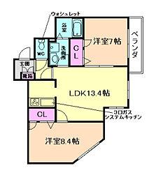 ファーストメゾン千成[2階]の間取り