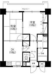 アミッドグリーン大濠弐番館[2階]の間取り