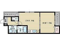 フジパレス瑞光3番館[1階]の間取り