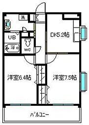 グレイス松島[502号室]の間取り