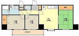 ライオンズマンション青梅 3階3DKの間取り