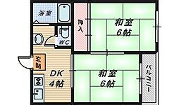 大阪府堺市堺区榎元町1丁の賃貸マンションの間取り