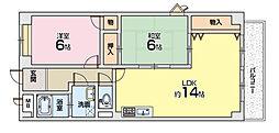 サンガーデンヨコヤマ[4階]の間取り