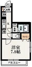 JR中央線 四ツ谷駅 徒歩8分の賃貸マンション 2階1Kの間取り