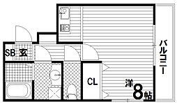リヴィエル須磨[4階]の間取り