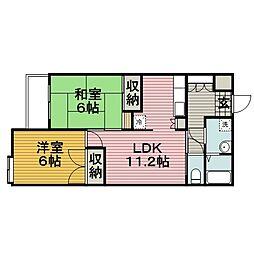ヒロ・ロイヤルハイツ長津田[305号室]の間取り