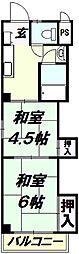 埼玉県所沢市星の宮1丁目の賃貸マンションの間取り