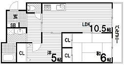 スターパレス鈴蘭台[2階]の間取り