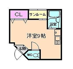 イオIKEDA[6階]の間取り