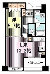 エーデル練馬[1階]の間取り