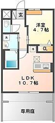 東京都東大和市向原1丁目の賃貸アパートの間取り