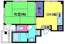 松丘マンション[3階]の間取り