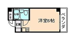 マンションペガサス[2階]の間取り