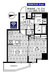 都営大江戸線 新御徒町駅 徒歩6分の賃貸マンション 11階1LDKの間取り