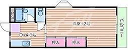 おおさか東線 JR野江駅 徒歩5分の賃貸マンション 3階1DKの間取り