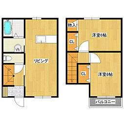 [テラスハウス] 東京都葛飾区東新小岩7丁目 の賃貸【/】の間取り