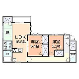 (仮)アメニティー幸区小倉3丁目マンション[202号室]の間取り