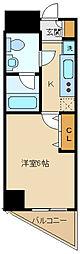 西武多摩湖線 一橋学園駅 徒歩3分の賃貸マンション 7階1Kの間取り
