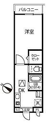 ファーマメント大宮大和田 1階1Kの間取り