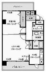 フィオーレ登戸[3階]の間取り