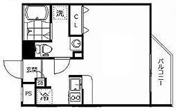 東武東上線 ときわ台駅 徒歩7分の賃貸マンション 4階ワンルームの間取り