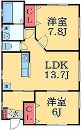 [一戸建] 千葉県市原市岩崎1丁目 の賃貸【/】の間取り